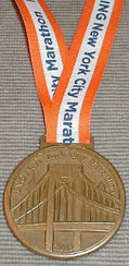 NYC Marathon finisher medal